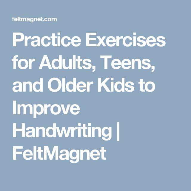 practice exercises for adults teens and older kids to improve handwriting feltmagnet. Black Bedroom Furniture Sets. Home Design Ideas