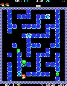 KLOV entry for Pengo, Sega, 1982.