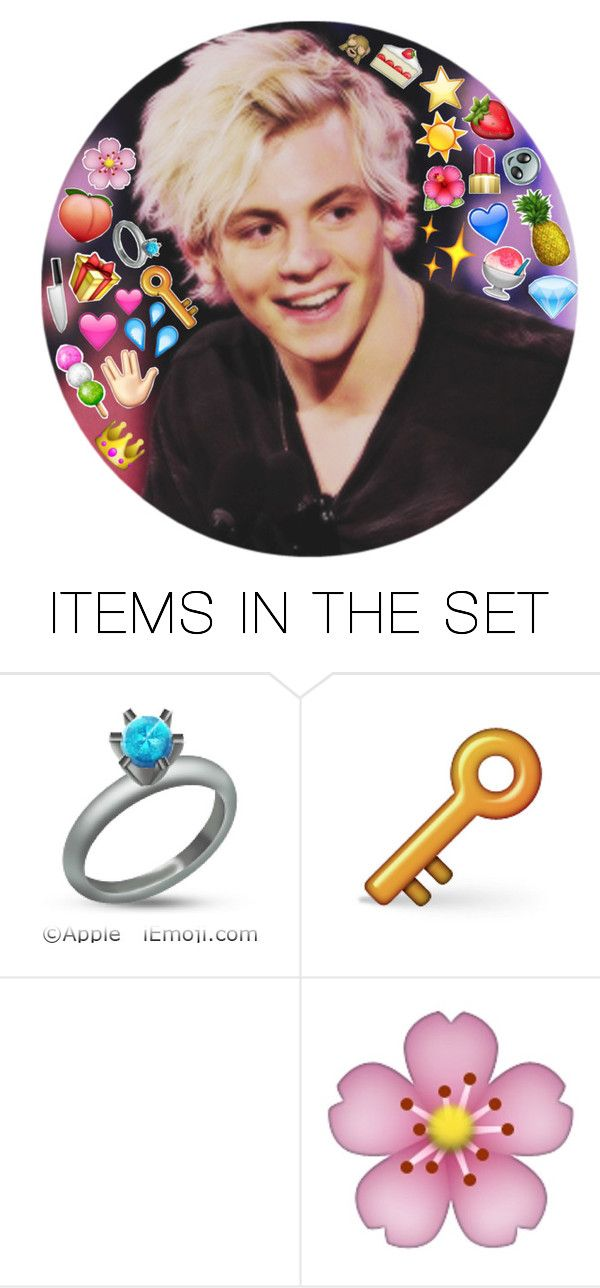 """ross lynch // purple emojis"" by rm328 ❤ liked on Polyvore featuring art"