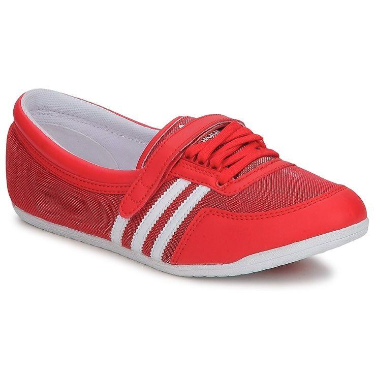 Ballerines adidas Originals CONCORD ROUND W Rouge / Blanc ...