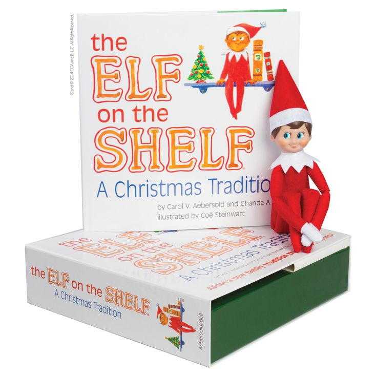 The Elf on the Shelf: A Christmas Tradition with Light Skin Tone Boy Scout Elf, Blue Eyed