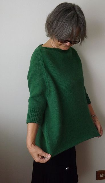 Ravelry: danakol's version of Hayward pattern by Julie Hoover. This version looks better than the original; it has more drape and is more flattering.