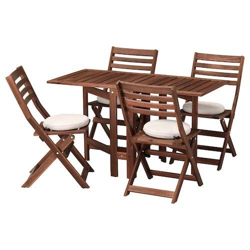 Ikea Applaro Tisch 4 Klappstuhle Aussen Klappstuhl Ikea Outdoor