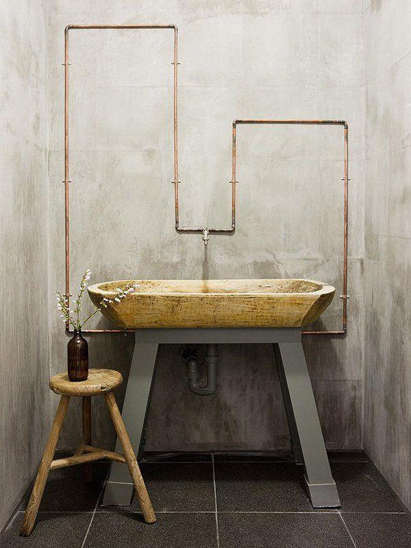 rustic interior bathroom