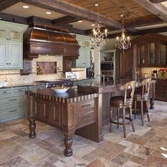 Slate floor design for kitchen. [by Hendel Homes, Rick & Amy Hendel]
