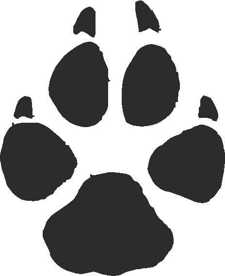 Grey Wolf Paw Print