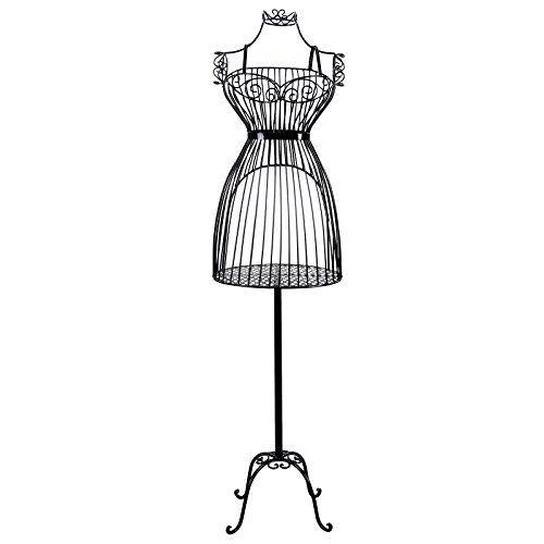 Songmics Porte vêtement Mannequin de Couture Buste en Fer