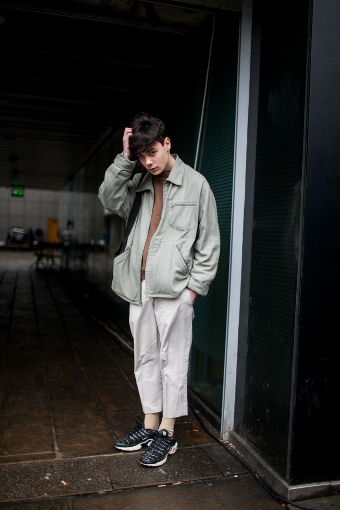 Street style at London Fashion Week Men's fall 2017.