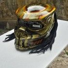 AWESOME PREDATOR HELMET MOTORCTCLE WITH GOLD COLOR - DOT APPROVED