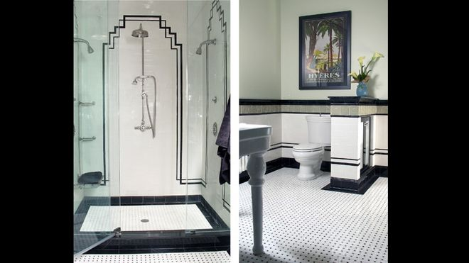 64 best art deco bawths images on pinterest art deco for Art deco interior design elements