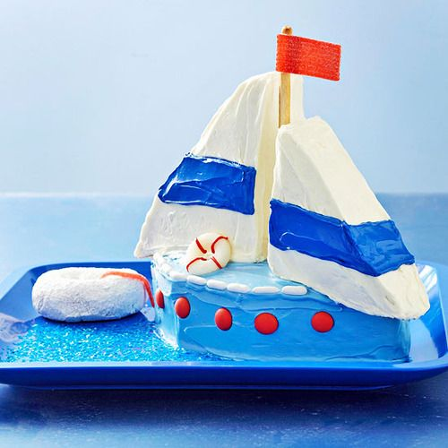 Sailboat Cake:Made this for my friend's birthday … RAVE reviews.
