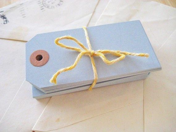 Blank Manila Gift Tags  set of 25 in Cornflower by CaliforniaCraft, $6.00