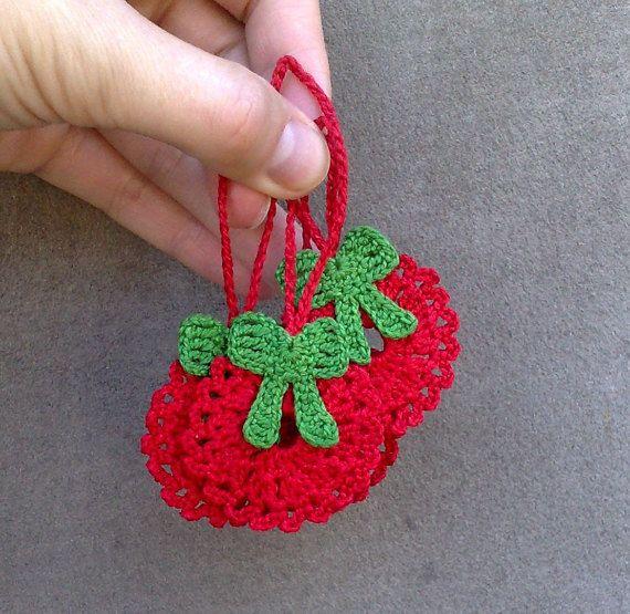 crochet Christmas wreath set of 4 Crochet Christmas by ElenaGift