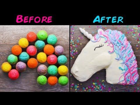 10 Amazing Unicorn Themed Easy Dessert recipes | DIY Homemade Unicorn Buttercream Cupcakes & More - YouTube