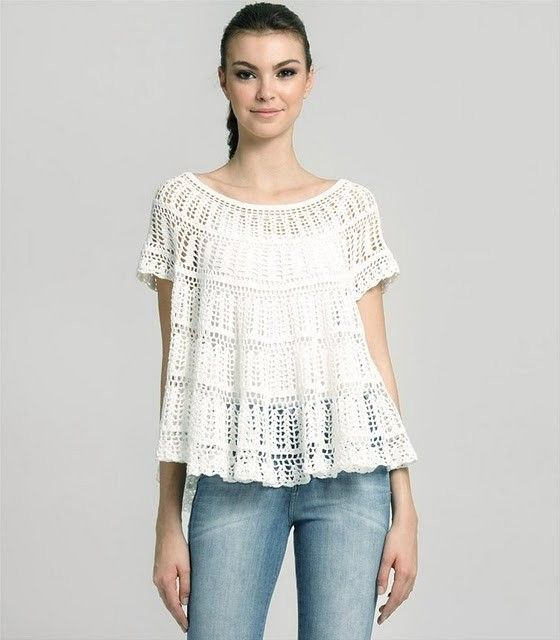 Lacy tunic -- summer breeze! Chart included.