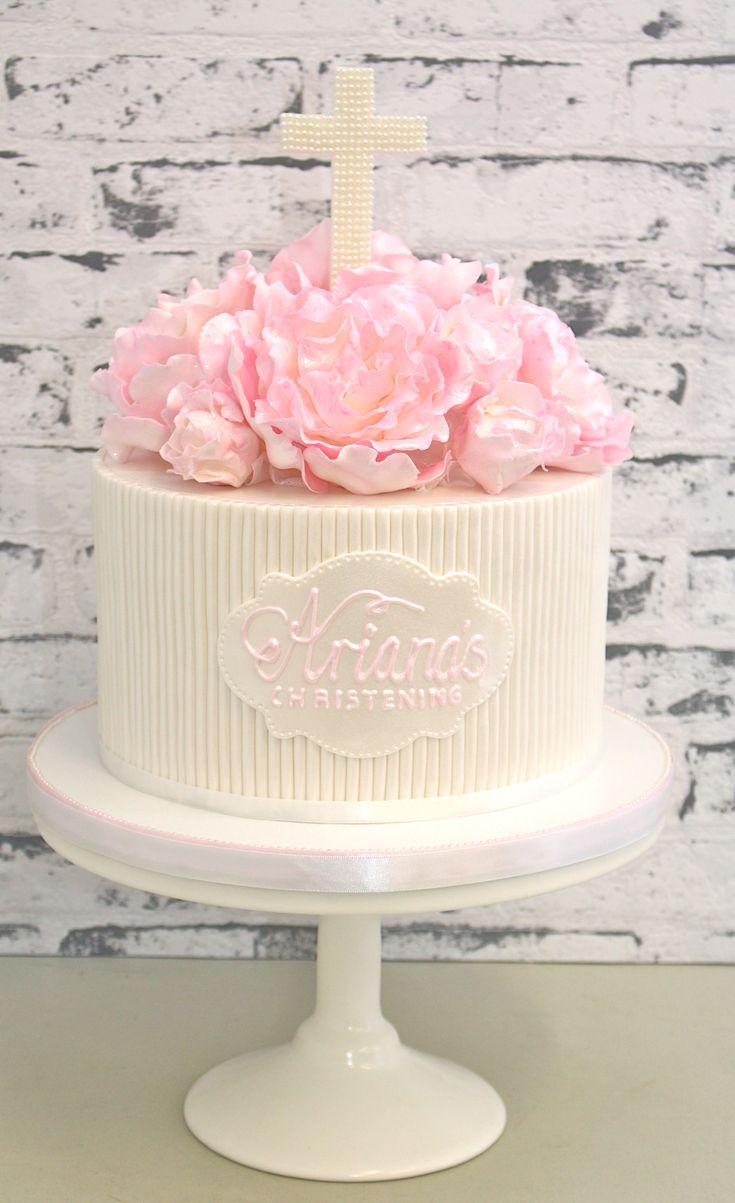 Pretty Parties - Custom Cakes CH-15 Christening / Communion / Confirmation Cake www.prettyparties.net.au