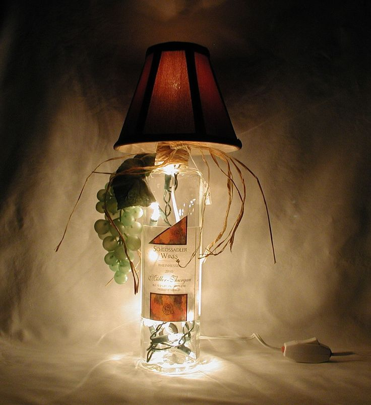19 best WINE BOTTLE LAMPS images on Pinterest