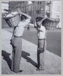 Os vendedores de pão em Lisboa.
