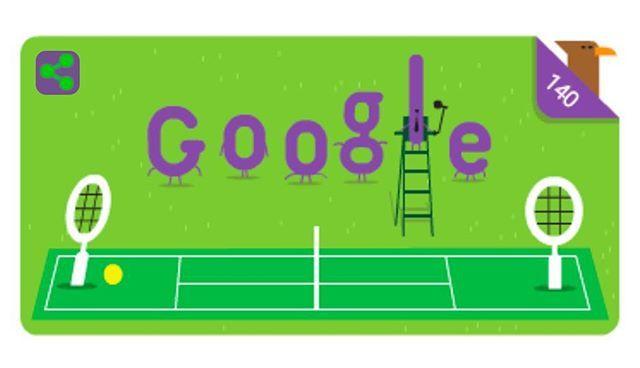 Reposting @raketea: ¡Hoy Google nos anima el día recordándonos los 140 años del torneo de Wimbledon! 😍🎾 #Wimbledon #raketea #app #sport #deporte #raqueta #tennis #tenis #wimbledon #london #google #doodle