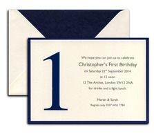 1st birthday invite from Heritage Stationary