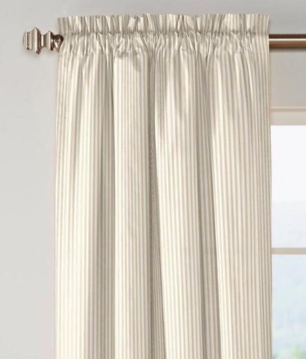 nike air force black&white ticking curtains