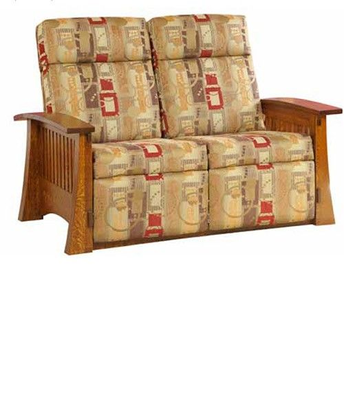 Fabric loveseat recliners