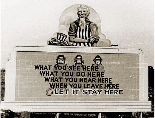 Manhattan Project propaganda billboard