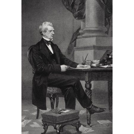 William Henry Seward 1801 To 1872 American Politician Who Negotiated Alaska Purchase From Painting By Alonzo Chappel Canvas Art - Ken Welsh Design Pics (12 x 17)