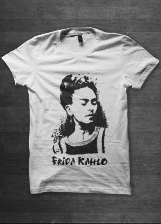 Frida Kahlo Womens T Shirt | Magik City - Cool T Shirts Reggae Funk Soul Hip Hop Music Political Graphic Street Art