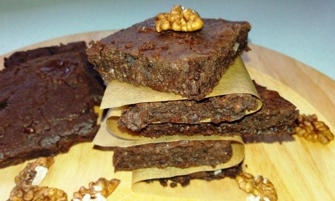 Brownies z fazolí - use gluten-free oats and almond milk :)