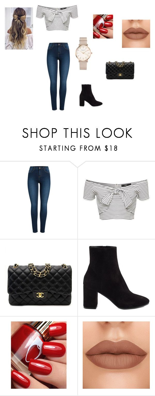"""""""Weekend Getaway Outfit"""" by emmawales-339 on Polyvore featuring Pieces, Chanel, Balenciaga and ROSEFIELD"""