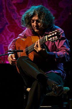 Manuel Moreno Junquera, 'Moraito Chico', guitarrista flamenco, nacido en el barrio de Santiago.