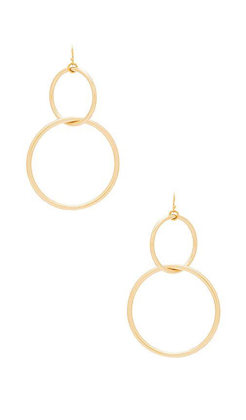 5e537af57 The #Interlocking #Hoop #Earrings #in #Gold | fashion | Hoop ...