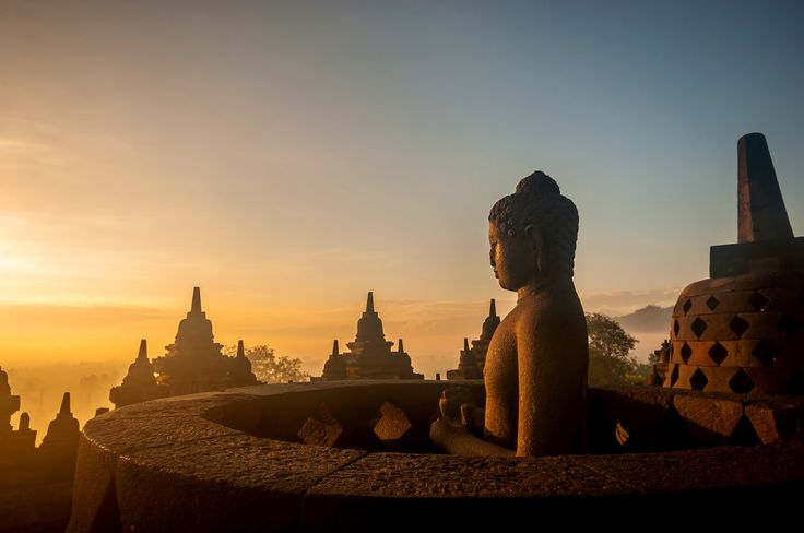 Borobudur, Java, Indonesia. The single largest Buddhist temple on Earth