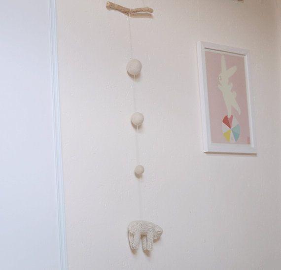 Suspension mouton mobile mouton décoration mouton par MainsDeLaine