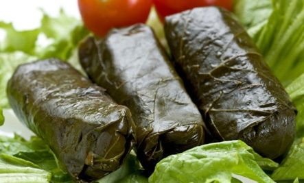 Vine leaves stuffed with rice Find it at: http://agoragreekdelicacies.co.uk/shop/4570272296/Vine-leaves-stuffed-with-rise---Ntolmades-Palirria/5485305