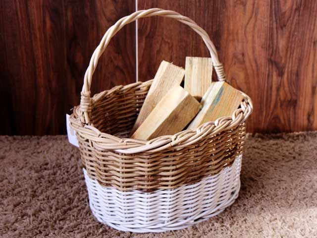 Kubo Wicker Basket With High Handle  #basket #wicker