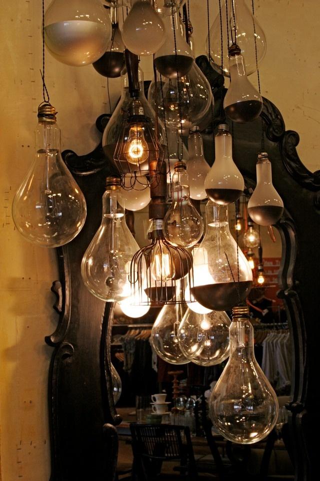 Found bulb light fixture