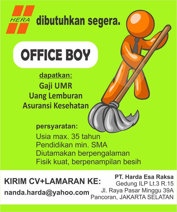 #lowongan #OB #kerja #officeBoy #jabodetabek