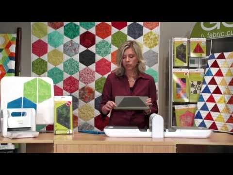 "AccuQuilt GO! Fabric Die Cutting: Hexagon-4 1/2"" Sides (55438) - YouTube"