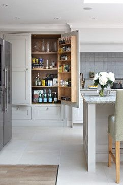 Surrey Bespoke Traditional Shaker Kitchen - transitional - kitchen - london - Brayer Design