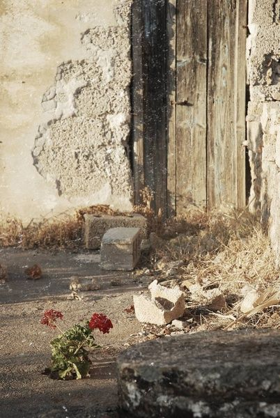 Old doors, old house next to the tourist area in Crete