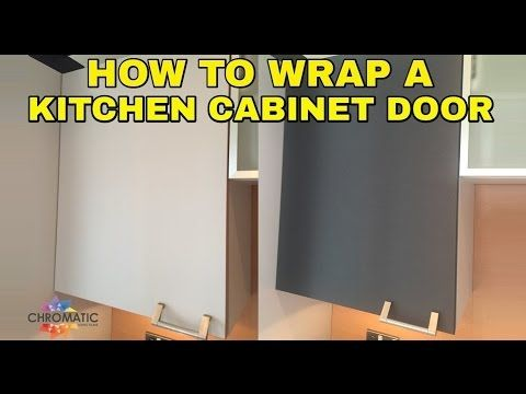 How to Wrap a Kitchen Cabinet Door - DIY Vinyl Wrapping Tutorial for Kitchens…