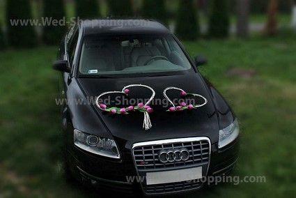 Tulipes pourpres Décoration de voiture mariage