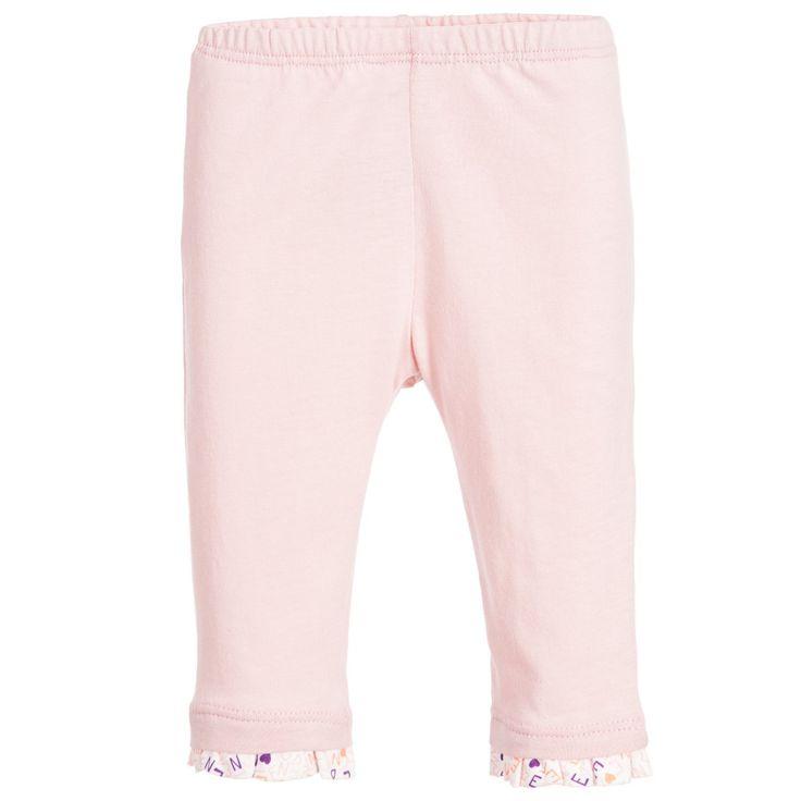 Fendi Baby Girls Pink Leggings with Logo Ruffle Trim at Childrensalon.com