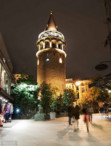 I went out for dinner tonight and walked past the beautiful Galata Tower!