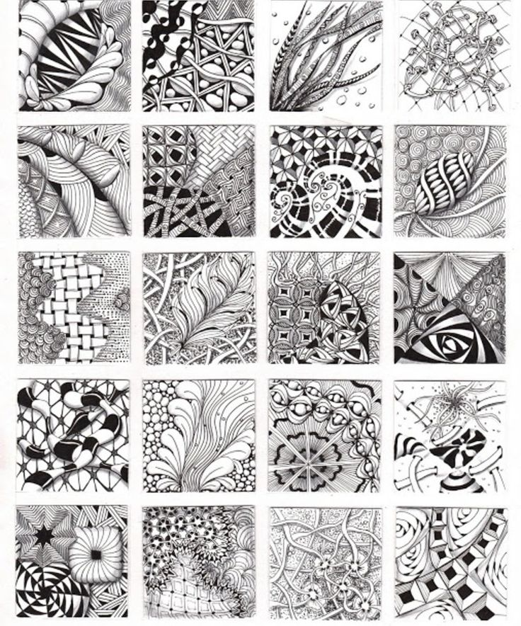 Simple Pattern Design Ideas: How To Zentangle Patterns Free