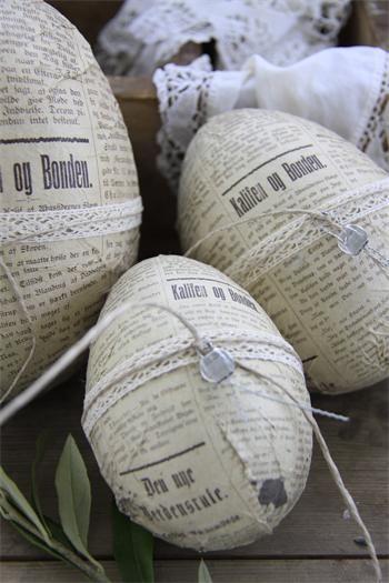 News Paper Eggs