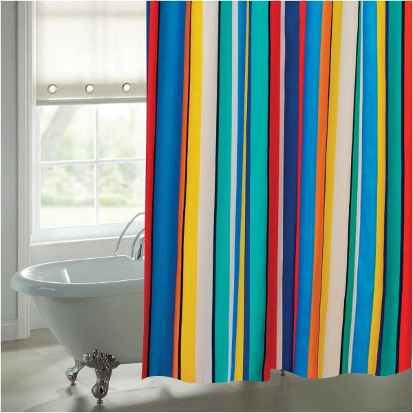 teal striped shower curtain. funky, bright, striped shower curtain by sophiehome on etsy teal y