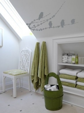 green details bathroom